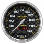 """GPS HP SPEEDOMETER WITH DISPLAY 120MPH 5"""" CARBON FIBER"""
