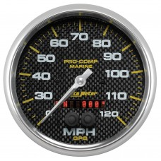 "GPS HP SPEEDOMETER WITH DISPLAY 120MPH 5"" CARBON FIBER"