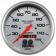 "GPS HP SPEEDOMETER WITH DISPLAY 120MPH 5"" SILVER"
