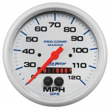 "GPS HP SPEEDOMETER WITH DISPLAY 120MPH 5"" WHITE"
