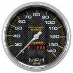"GPS HP SPEEDOMETER WITH DISPLAY 140MPH 5"" CARBON FIBER"