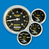 Auto Meter Gauges-Carbon Fiber
