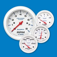 Auto Meter Gauges-White