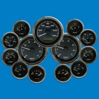 Elite Twin Engine Gauge Kits