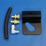 OIL FILTER BRACKET KIT BIG BLOCK CHEVY EFI APPLICATIONS WITH SERPENTINE ACCESSORY BELTS