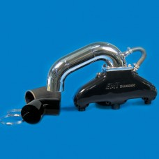 EMI Thunder Exhaust System-SB Chevy With Hi Perf S Pipe Colored Finish