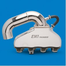 EMI Thunder Exhaust System-BB Chevy With SS Hi Perf S-Pipe Kit Polished Finish