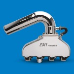 """EMI Thunder Exhaust System-BB Chevy +3"""" Taller Risers Polished Finish"""
