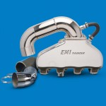 EMI Thunder Exhaust System-496 Chevy With SS Hi Perf S-Pipe Kit Polished Finish
