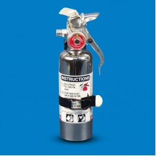 CHROME FIRE EXTINGUISHER 1LB CLEAN AGENT