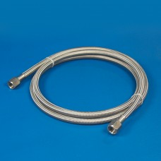 TEFLON/BRAIDED STAINLESS STEEL LINE ASSEMBLY -4  8""