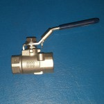 "WATER SHUT-OFF BALL VALVE 1/2"" NPT STAINLESS STEEL"