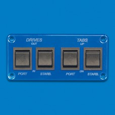 SWITCH PANEL- FOUR DOUBLE POLE SWITCHES