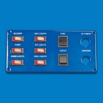 SWITCH PANEL- SIX SINGLE POLE,TWO DOUBLE POLE SWITCHES