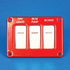 RECESSED SWITCH PANEL- THREE SWITCHES
