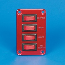 SWITCH PANEL- FOUR SINGLE POLE SWITCHES