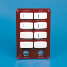 SWITCH PANEL- EIGHT CARLING SWITCHES W/ TWO IGNITION SWITCHES