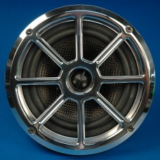 "BILLET ALUMINUM 6-1/2"" SPEAKER GRILL WHEEL STYLE"