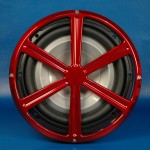 "BILLET ALUMINUM 12"" SUBWOOFER GRILL WHEEL STYLE"